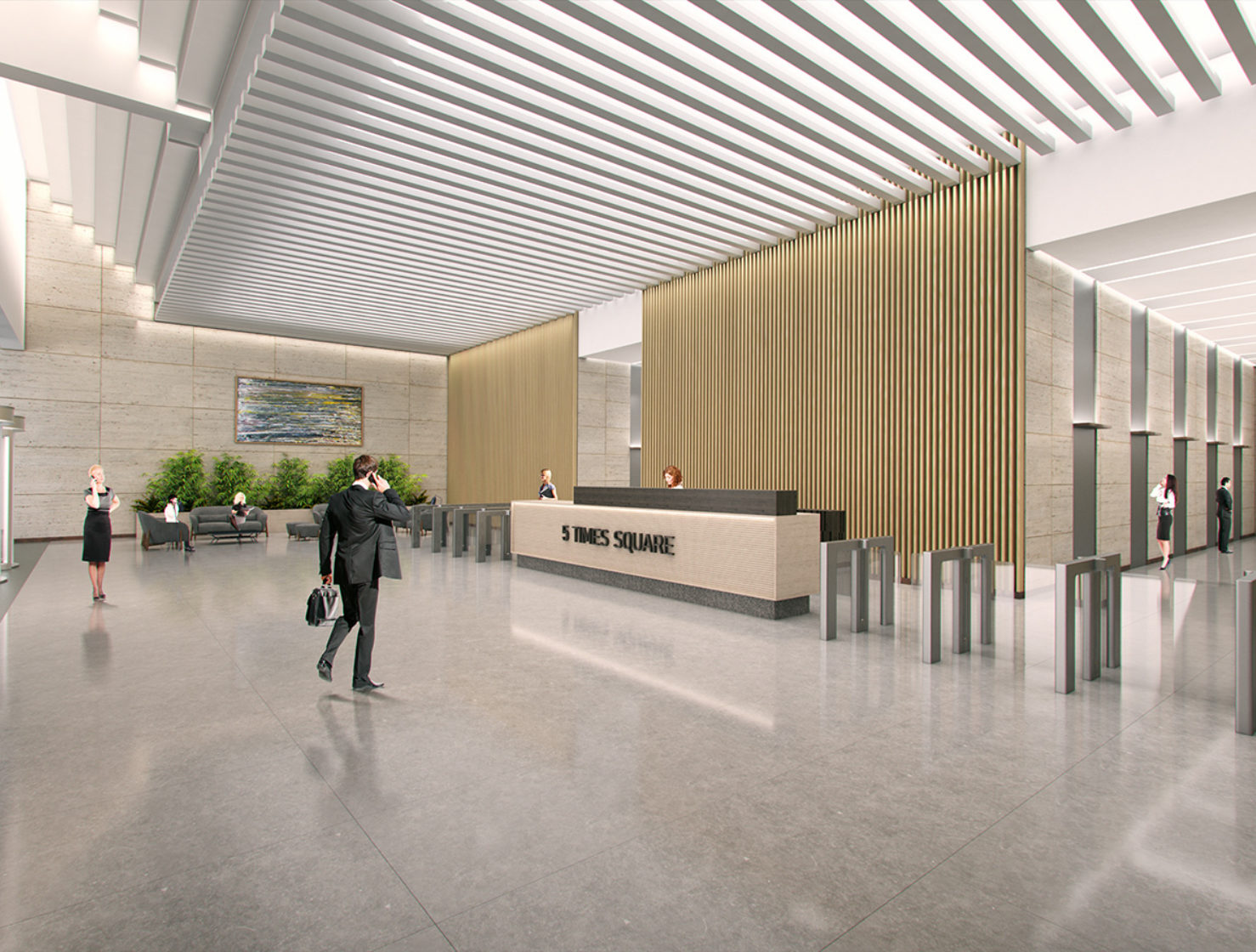 5 Times Square - Renovated office Lobby